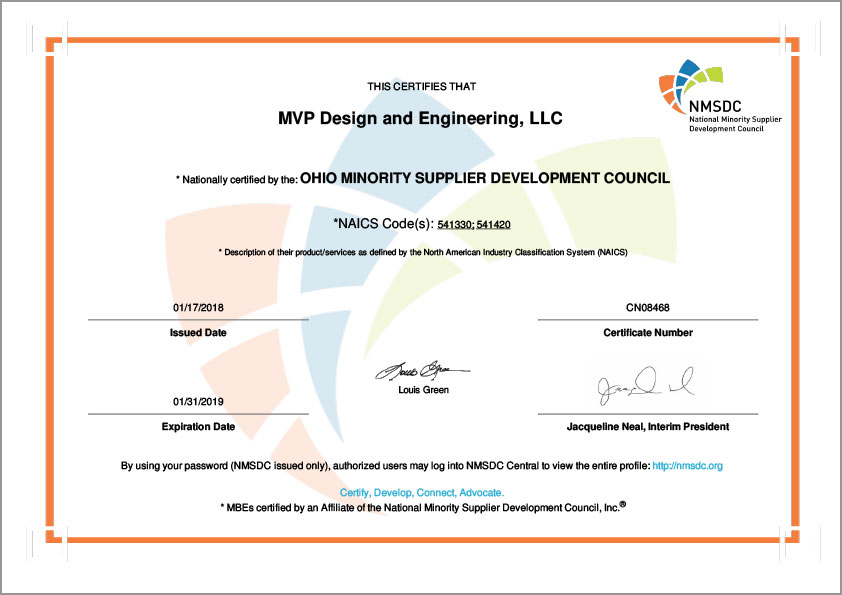 Mvp Design And Engineering Llc Certificate 2018 Mvp Plastics